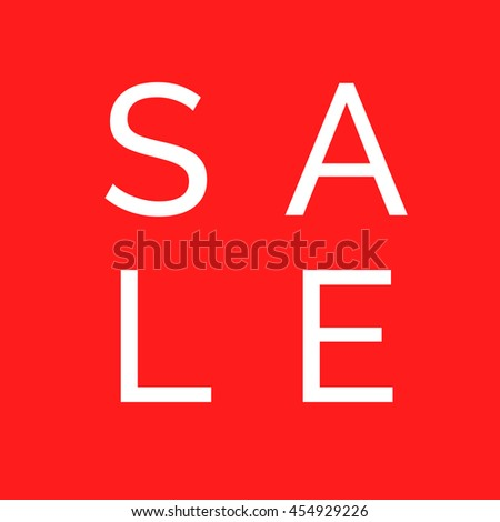 Vector sale design on red background, red banner for business design, sale text poster - stock vector