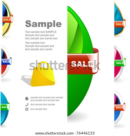 Vector sale illustration. Great collection. - stock vector