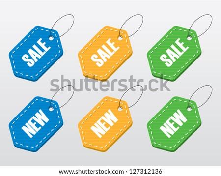 Vector Sale Labels - stock vector