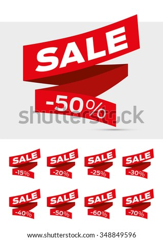 Vector Sale Labels Tags Sticker
