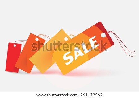 Vector sale pointer - sale - color theme  - stock vector