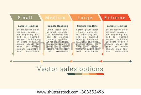 Vector sales option in minimalistic style