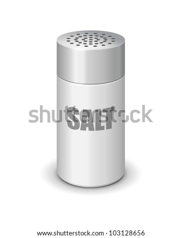 Vector salt shaker - stock vector