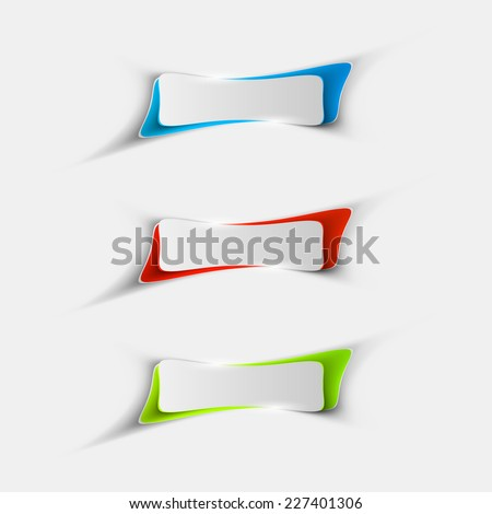 Vector Sample stickers for various options - stock vector