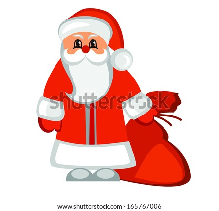 Vector Santa Claus on white background
