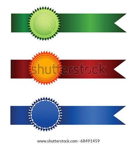 Vector Satisfaction Guaranteed set of tags isolated over white background - stock vector