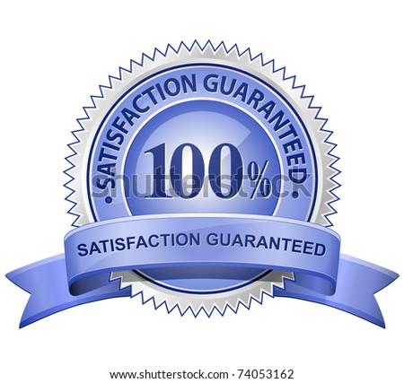 Vector 100% Satisfaction Guaranteed Sign - stock vector