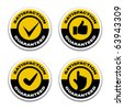 vector satisfaction guaranteed stickers - stock photo
