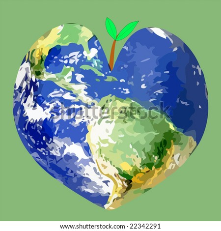 Vector Save The World - stock vector