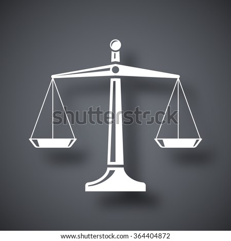 Vector scales of justice icon - stock vector