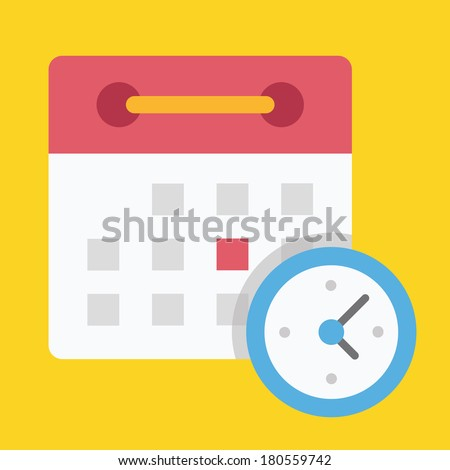Vector Schedule Icon - stock vector