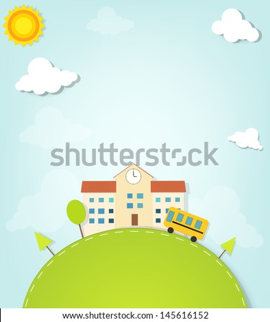 vector school - stock vector