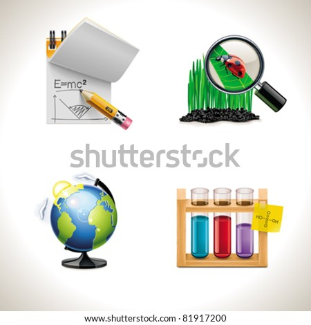Vector school and education icons. Part 3 - stock vector