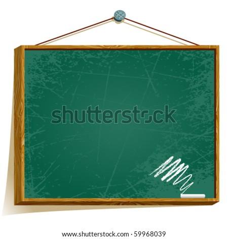 Vector school blackboard - stock vector