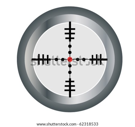 vector scope sight - stock vector