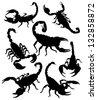 Vector scorpion silhouette - stock