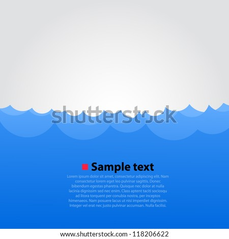 Vector sea background - stock vector