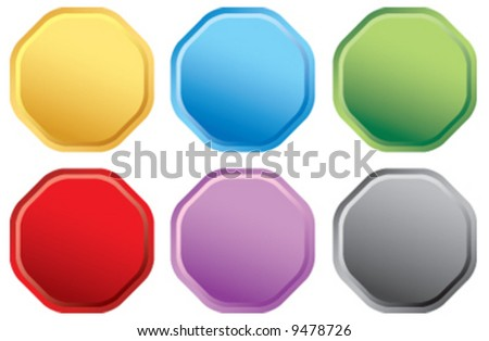 Vector seal button icons