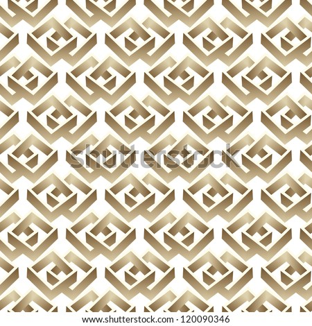 vector seamless abstract 3d graphic pattern background - stock vector