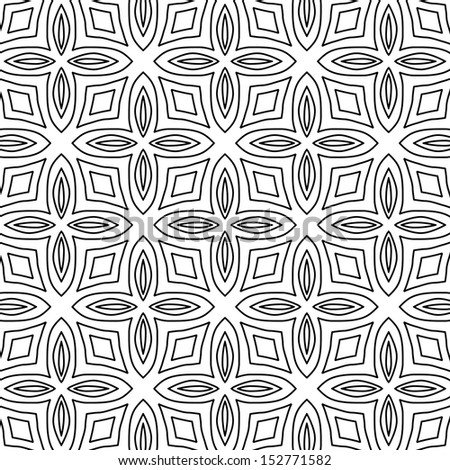 vector seamless abstract line pattern background - stock vector