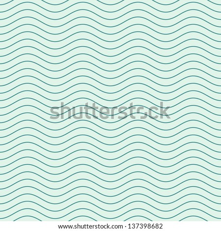 Vector seamless abstract pattern, waves - stock vector