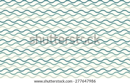 Vector seamless abstract pattern waves - stock vector