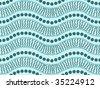 Vector seamless background aboriginal style symbolic design. - stock vector