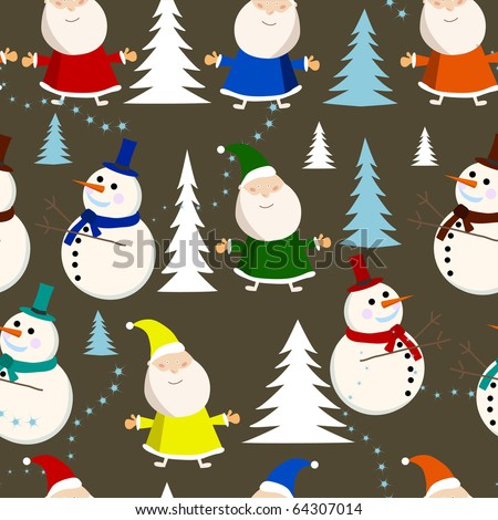 vector seamless background card for christmas. - stock vector