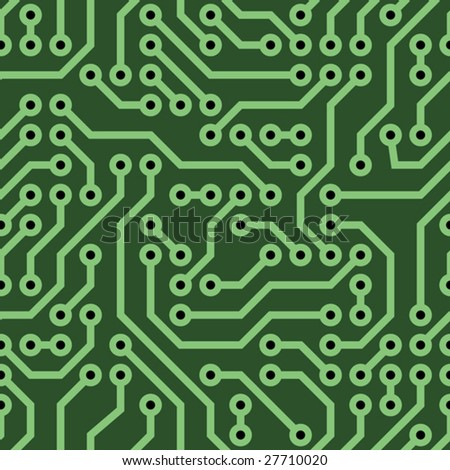 vector seamless background - computer circuit board