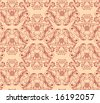 Vector seamless background Floral pattern, Damask wallpaper - stock vector