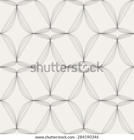 Vector seamless background. Modern stylish texture. Repeating geometric shapes. Contemporary graphic design. - stock vector