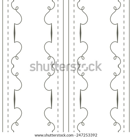 Vector seamless background. Simple retro wallpaper with a repeating pattern - stock vector