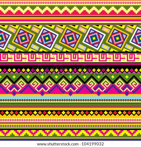 vector seamless background with a Latin American  ornament - stock vector