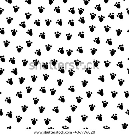 Vector seamless background pattern animal paws stock for Animal print fabric for kids