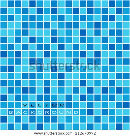 vector seamless background with blue pixel noise, tile, flooring, cover ... - stock vector