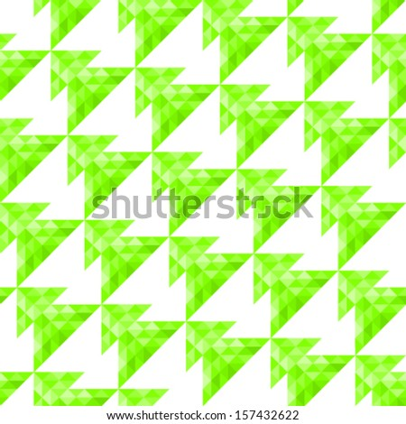 Vector seamless background with geometric christmas tree pattern - stock vector