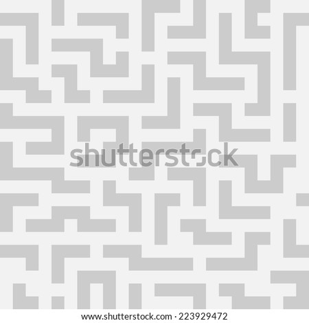 Vector seamless background with maze. Seamless pattern.