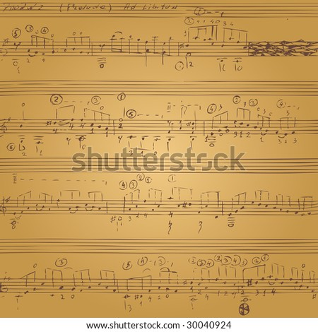 Vector seamless background with music notes.