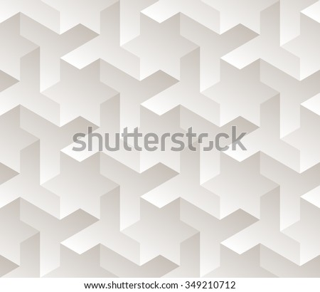 Vector Seamless Black And White Gradient Geometric Star Triangle Shape Tessellation Subtle Pattern Abstract Background - stock vector