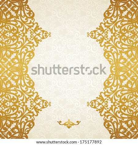 Vector seamless border in Victorian style. Element for design. Ornament  endless pattern. It can be used for decorating of wedding invitations, greeting cards, decoration for bags and clothes. - stock vector
