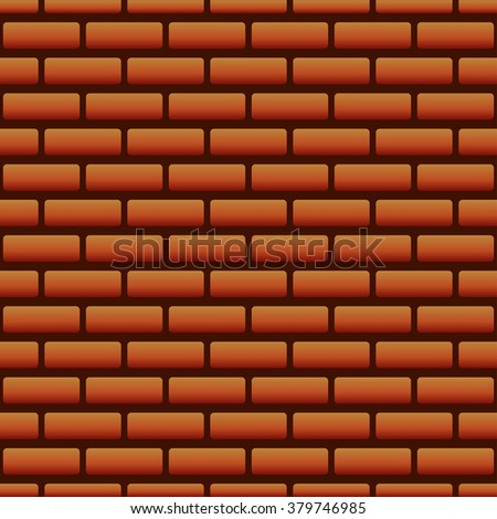 Vector Seamless Brick Wall Texture Pattern EPS