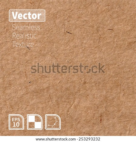 Vector seamless brown rice paper photo texture. Background for your design - stock vector
