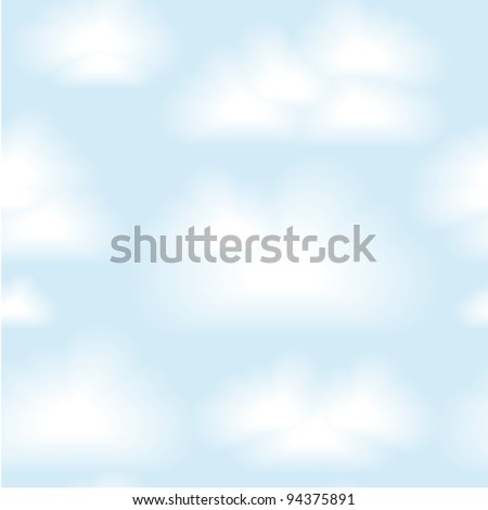 Vector seamless clouds background. Eps 10 - stock vector