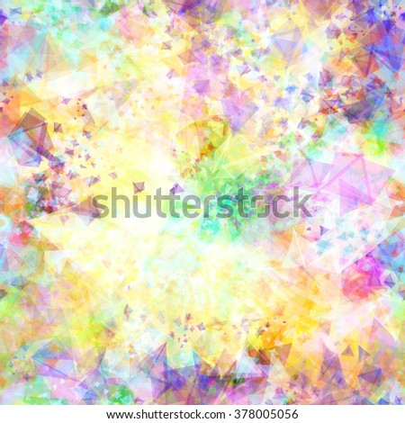Vector seamless color dynamic pattern, lighting effect. Soft painting texture. Bright colors glowing triangles. Background with colors like a blurred and watercolor effect. - stock vector