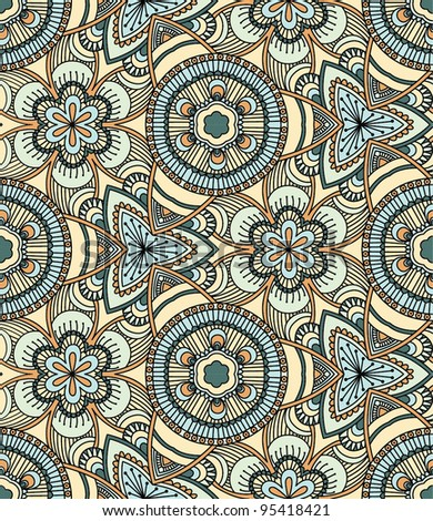 Vector seamless colorful decorative background. Kaleidoscope - stock vector