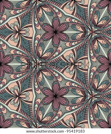 Vector seamless colorful decorative background. Kaleidoscope - stock vector