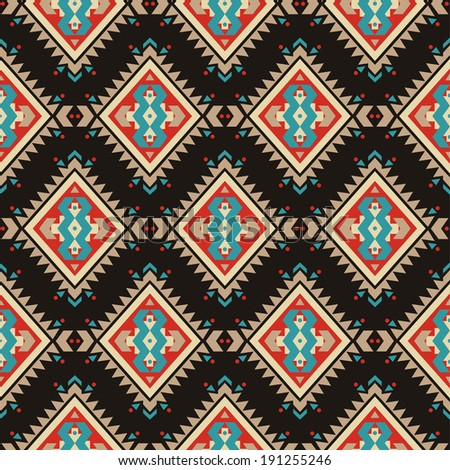 Vector seamless colorful decorative ethnic pattern