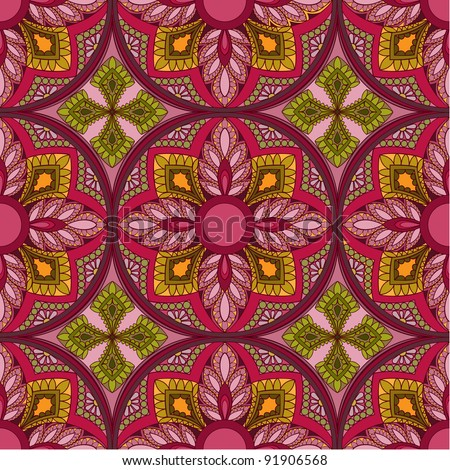 Vector seamless colorful vintage background - stock vector