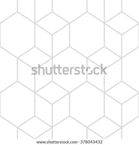 Vector Seamless Cube Pattern . Modern Geometrical background . Tilling Background . Hexagon Pattern . Rhombus Pattern . - stock vector
