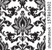 Vector. Seamless damask pattern - stock vector